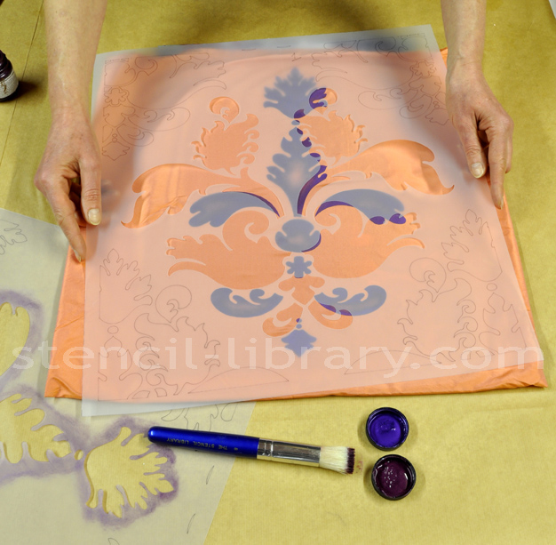 SIB20 damask stencil How to stencil