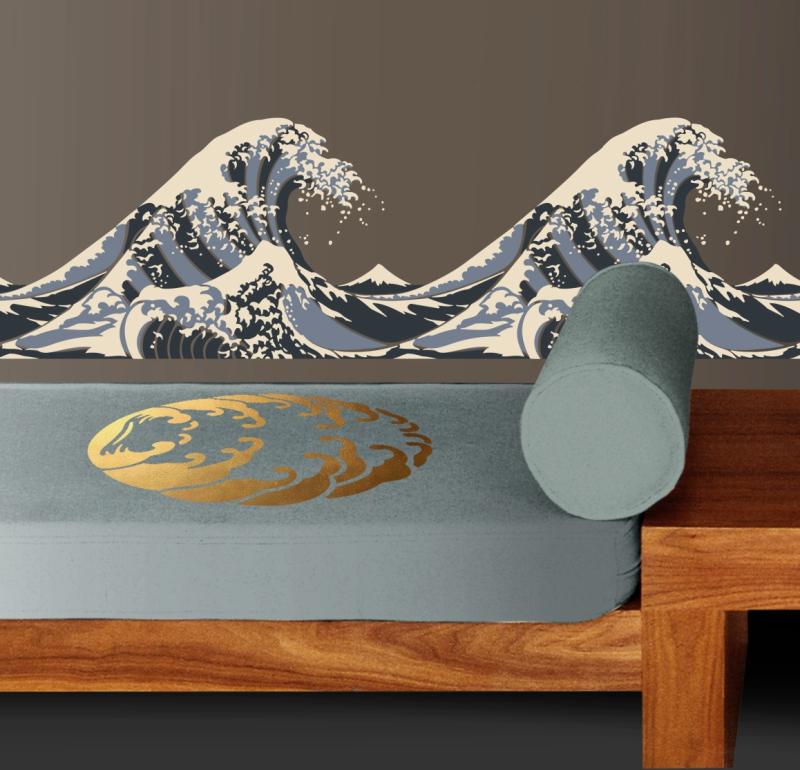 JA34 Hokusai Stencil Library