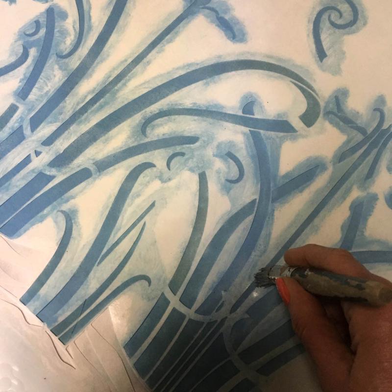 Stencil mid blue39