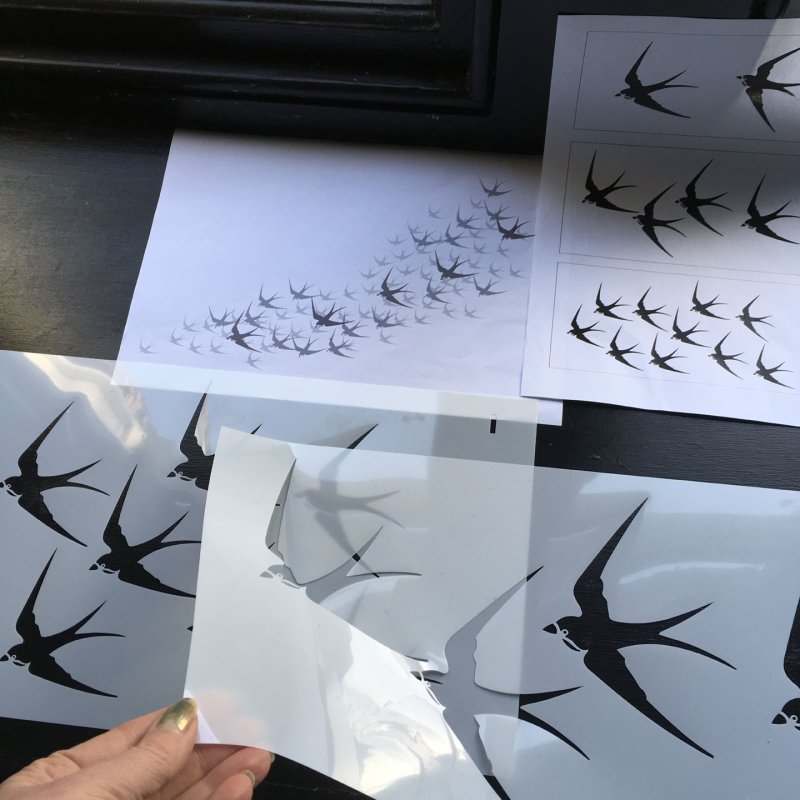 Swallow stencil-library layer 1 and 2