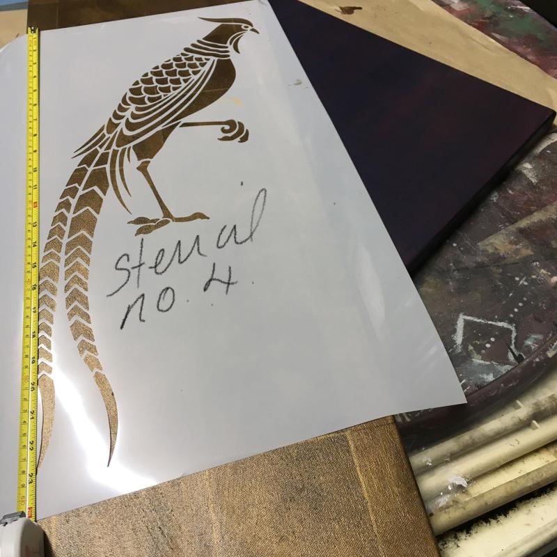 Pheasant stencil-library 920 2