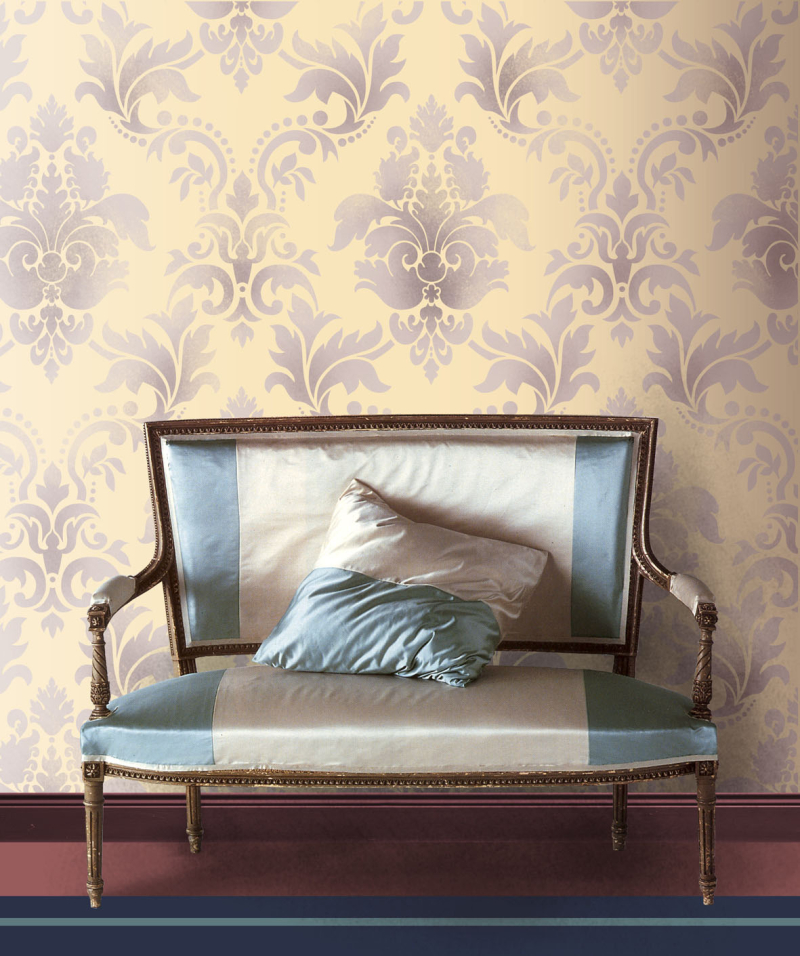 HG1-Damask stencil. stencil-library