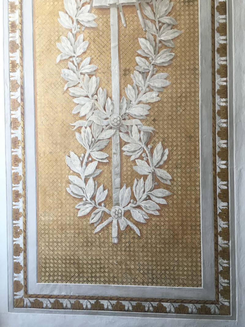 Decorative painting panel  caserta palace 38