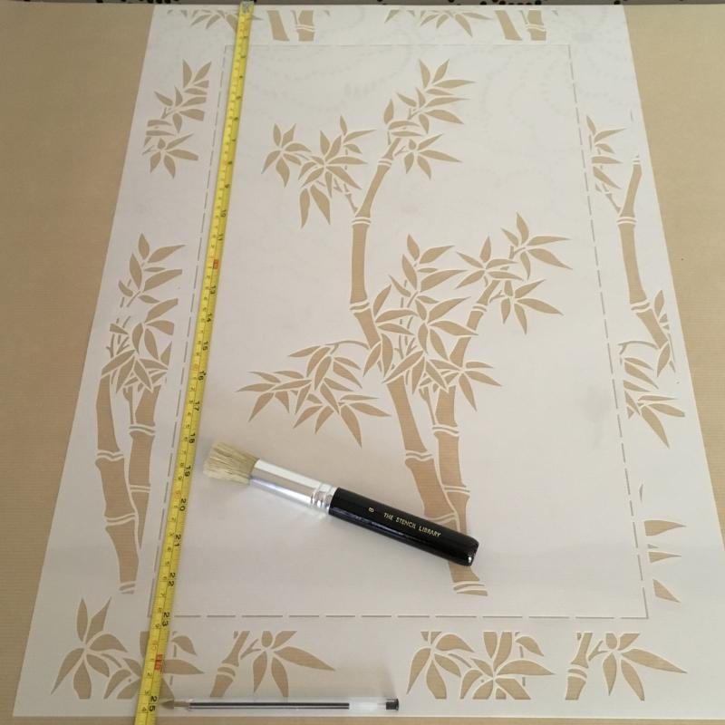 JA51 Bamboo stencil desk