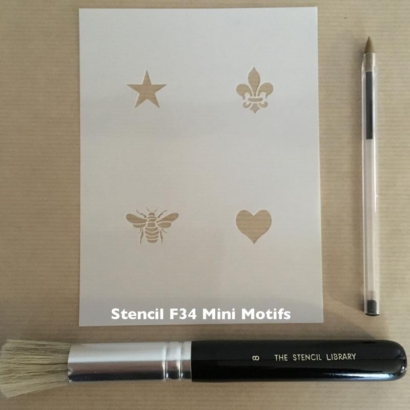 F34 Mini motifs stencil
