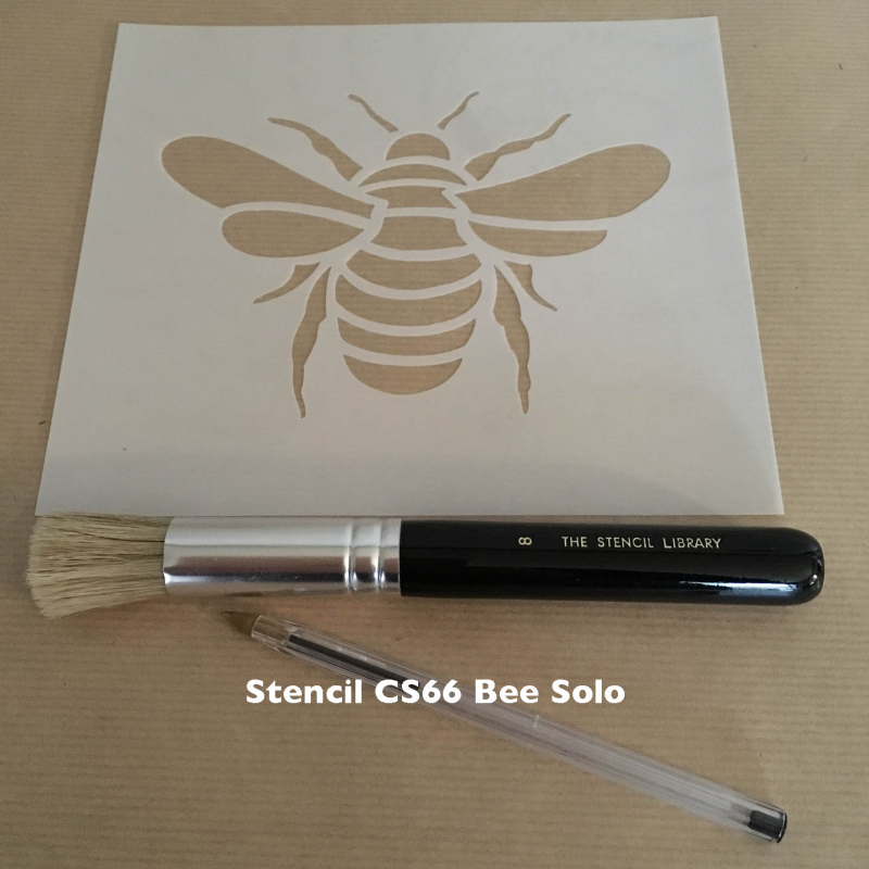 CS66-solo bee stencil