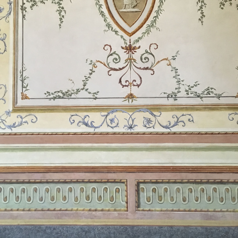 Caserta Palace decorative paintwork