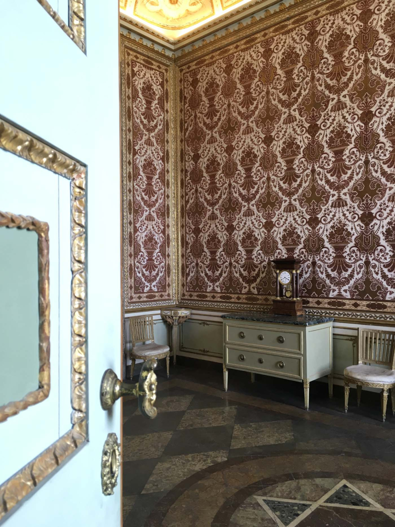 Caserta Palace floor  trims and wall