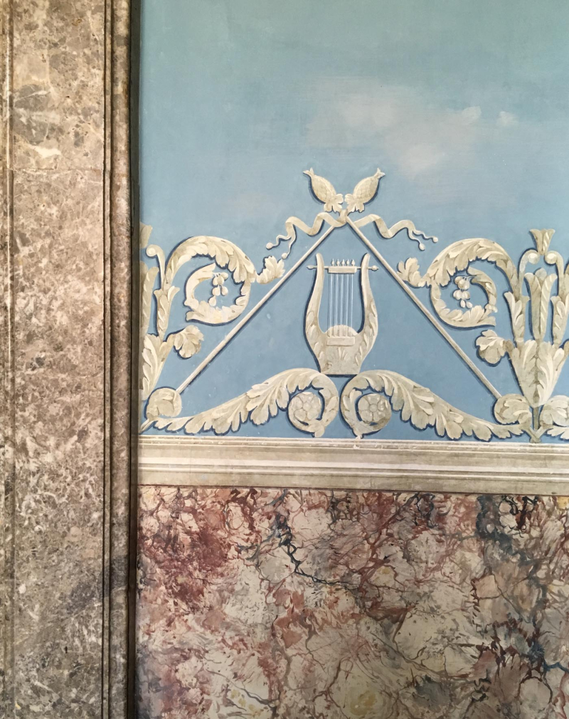 Caserta blue sky marble wall