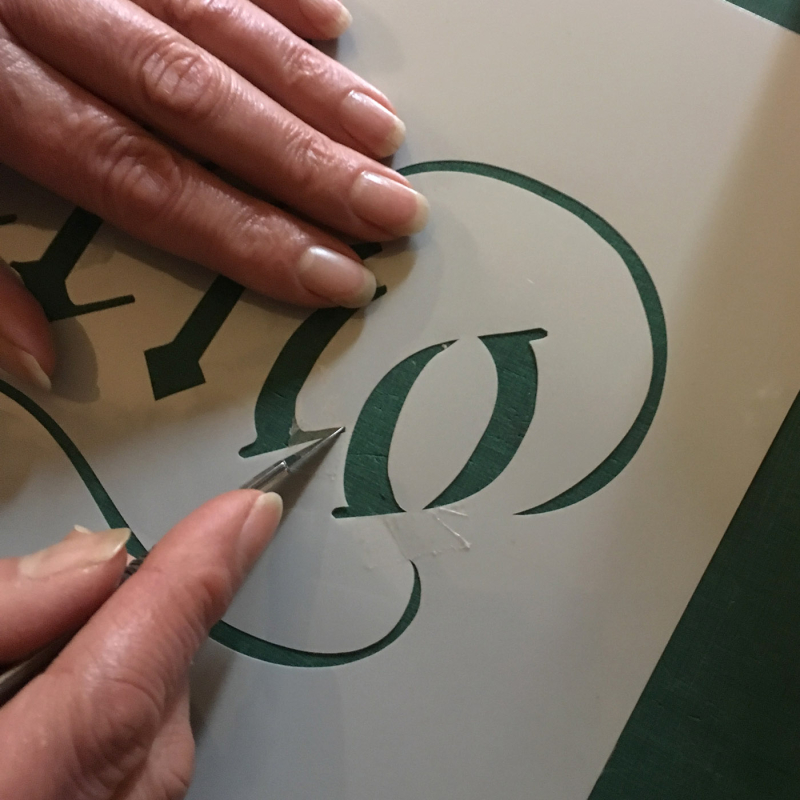 How to repair a stencil 4