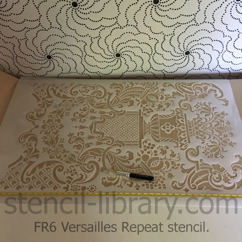 FR6 Versailles repeat stencil-library product pic