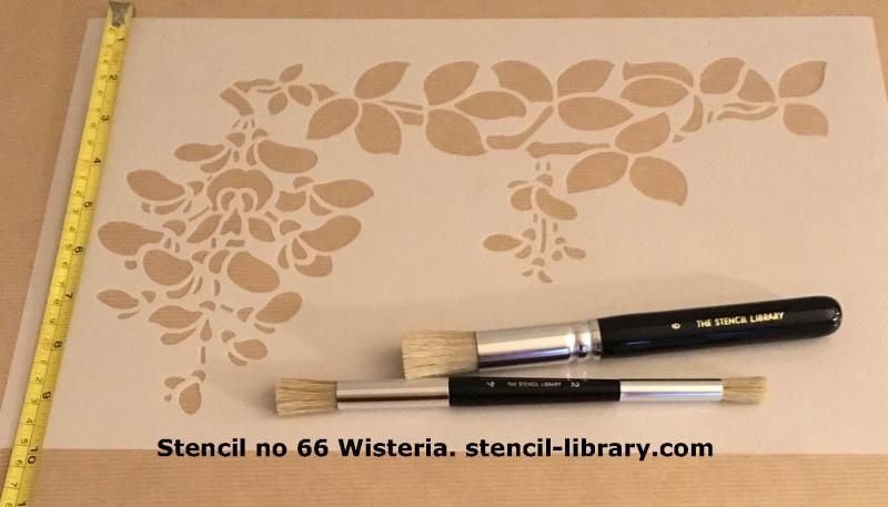 Wisteria stencil 66 TSL