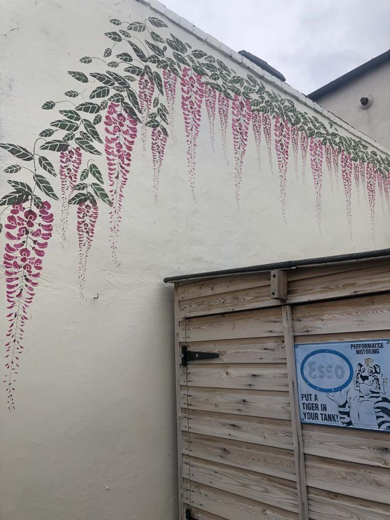Large wisteria stencil blake