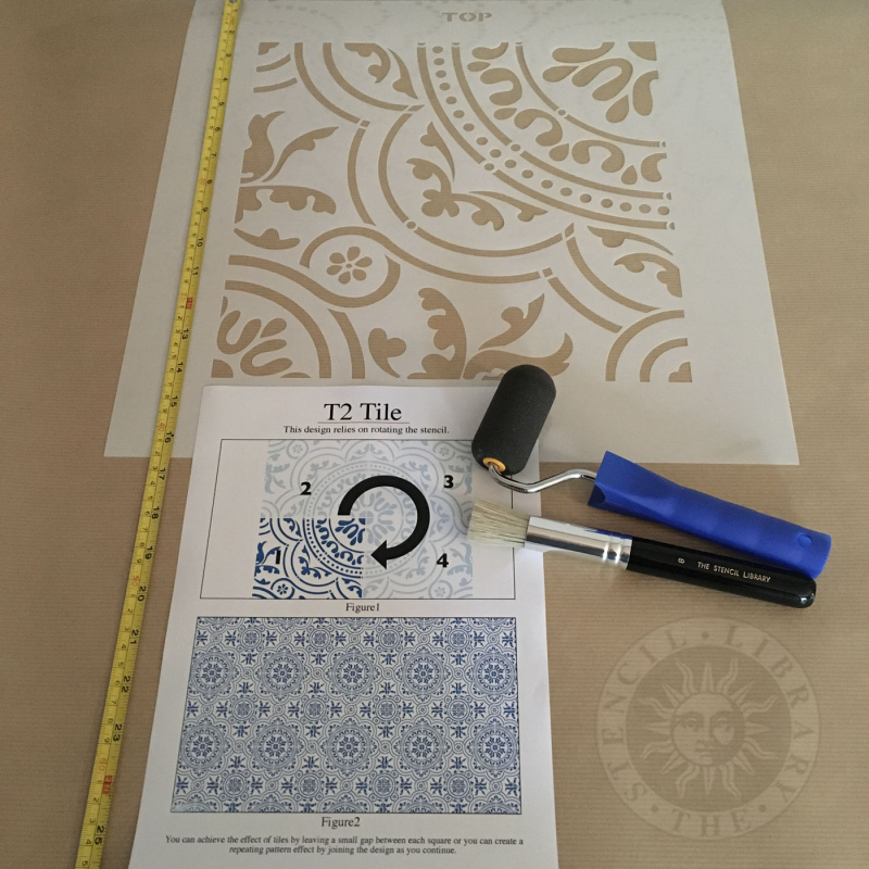 T2 Tile no 2 stencil