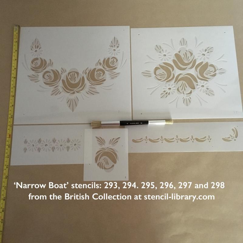 Narrow boat stencils