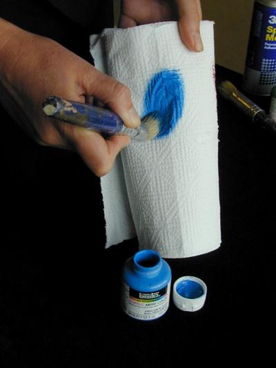 Stencil_paint_paper_towel